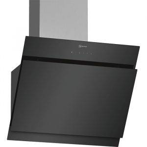 Neff D65IHM1S0B Chimney Hood with TouchControl and angled black glass