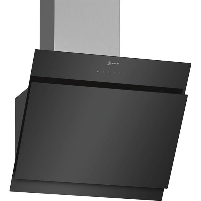 neff d65ihm1s0b chimney hood with touchcontrol and angled. Black Bedroom Furniture Sets. Home Design Ideas