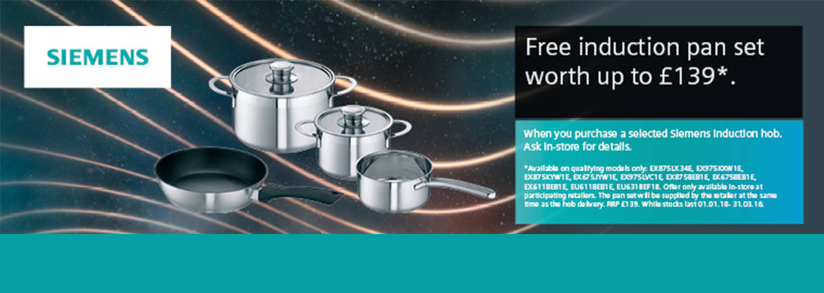 Free set of induction pans with Siemens