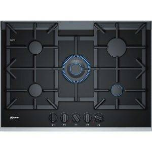 Neff T27TA69N0 Gas Hob with 5 burners and black ceramic glass 75cm
