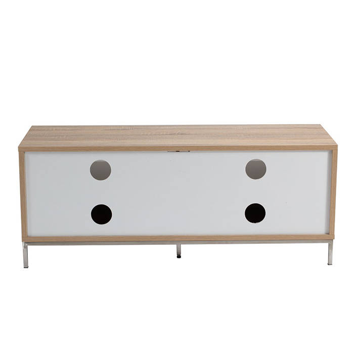 Alphason Designs ADCH1135 WHT Chaplin TV Cabinet for up to 52 inch screens 1135mm White and Light Oak