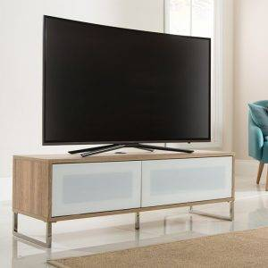 Alphason Designs ADHE1200LO Helium TV Stand for up to 55 inch screens Light Oak