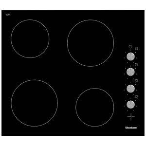 Blomberg MKN24001 Ceramic Hob Four Cooking Zones with Side Mounted Controls