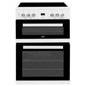 Beko EDC633W Electric Cooker Double Oven with Grill 60cm