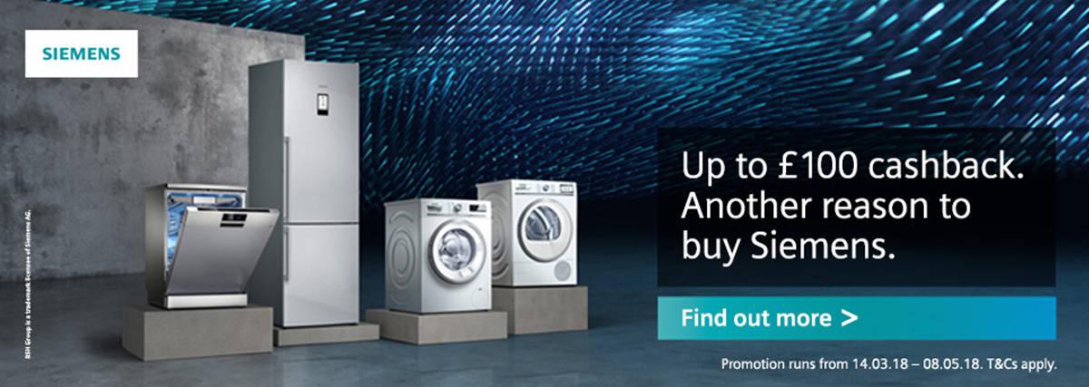 Siemens Cashback Up to 150