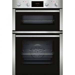 Neff U1DCC1BN0B Built in Double Electric Oven with Teloscopic Rails and CircoTherm®