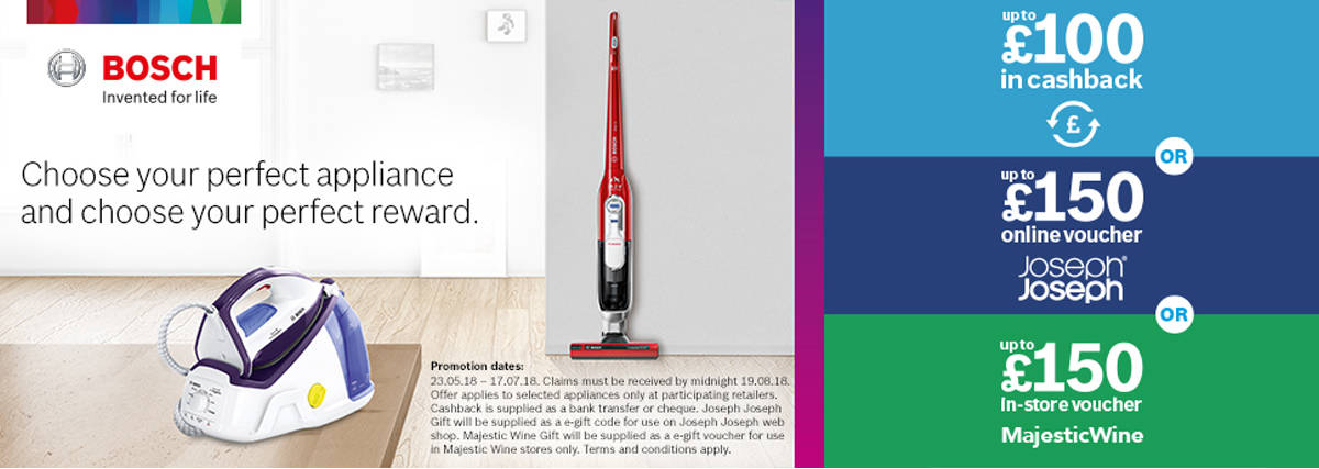 Bosch choose your perfect appliance