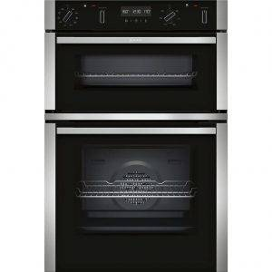 Neff U2ACM7HN0B Built in Double Oven With Pyrolytic Cleaning