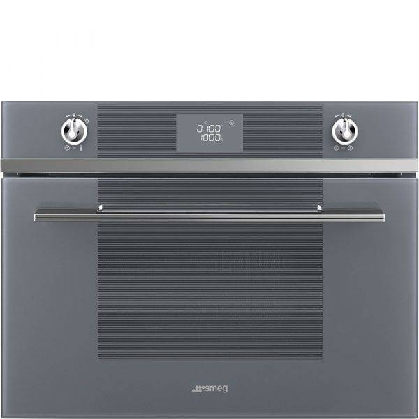 Smeg SF4102MCS Compact Microwave Combination Oven With Illuminated Controls