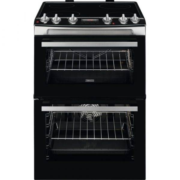 Zanussi ZCV66078XA Electric Cooker Double Oven 60cm