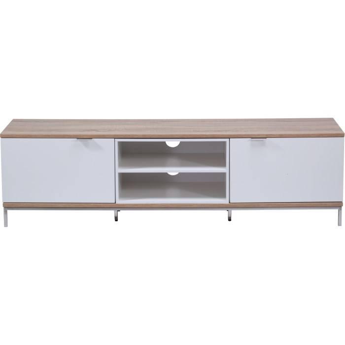 Alphason Designs ADCH1600WHT Chaplin Large Open Shelf Unit 1600 Wide