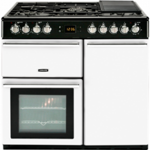 Leisure CMCF99W 90CM Contemporary Styled Dual Fuel Range Cooker
