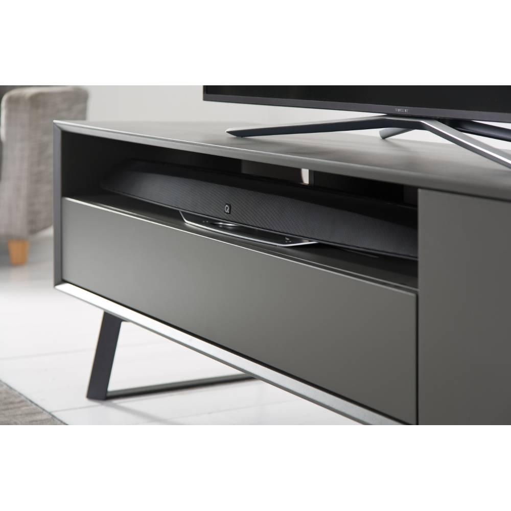 Alphason Designs ADCA1600GREY The Carbon, a sleek Scandinavian inspired TV stand 1600 Wide