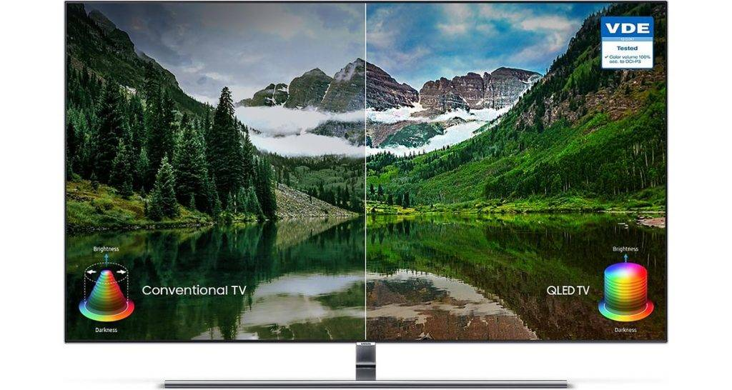 Samsung QLED vs conventional TV