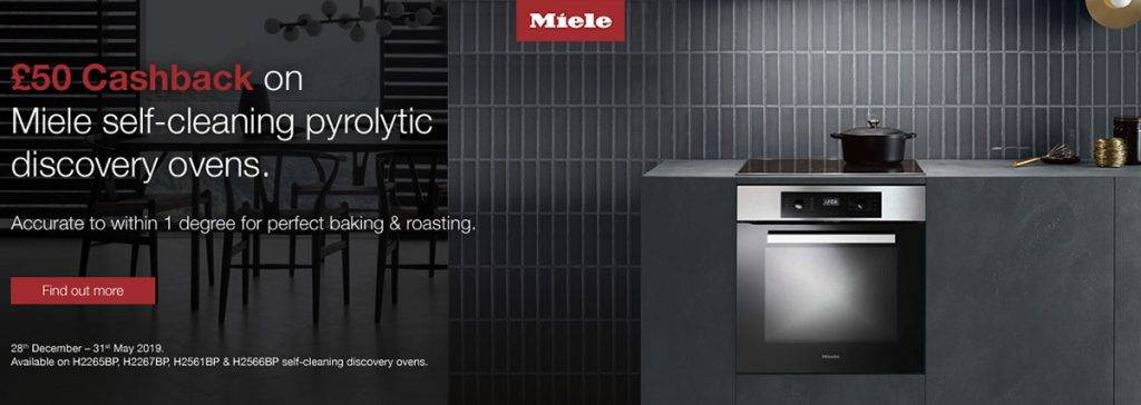 Miele £50 cashback on selected ovens