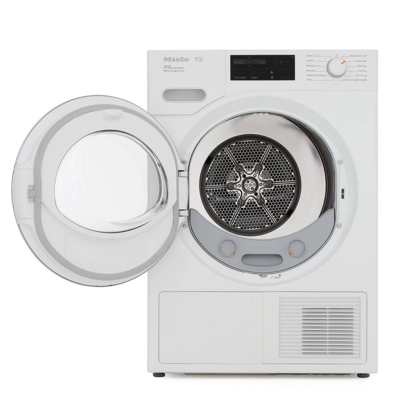 Miele TWJ680WP 9KG Heat-Pump Tumble Dryer With SteamFinish