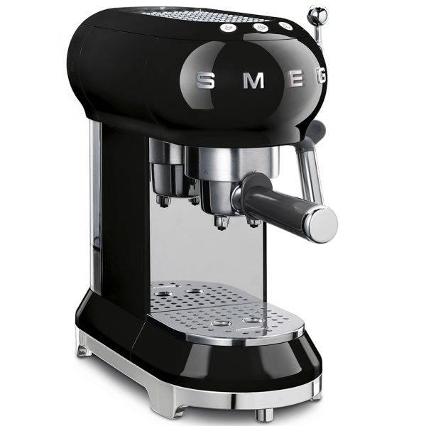 Smeg ECF01BLUK Espresso Coffee Machine 50's Retro Style