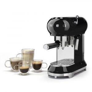 Smeg ECF01BLUK Espresso Coffee Machine 50's Retro Style