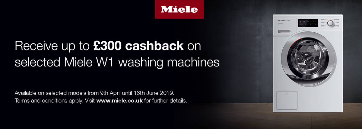 Miele Cashback on selected laundry products