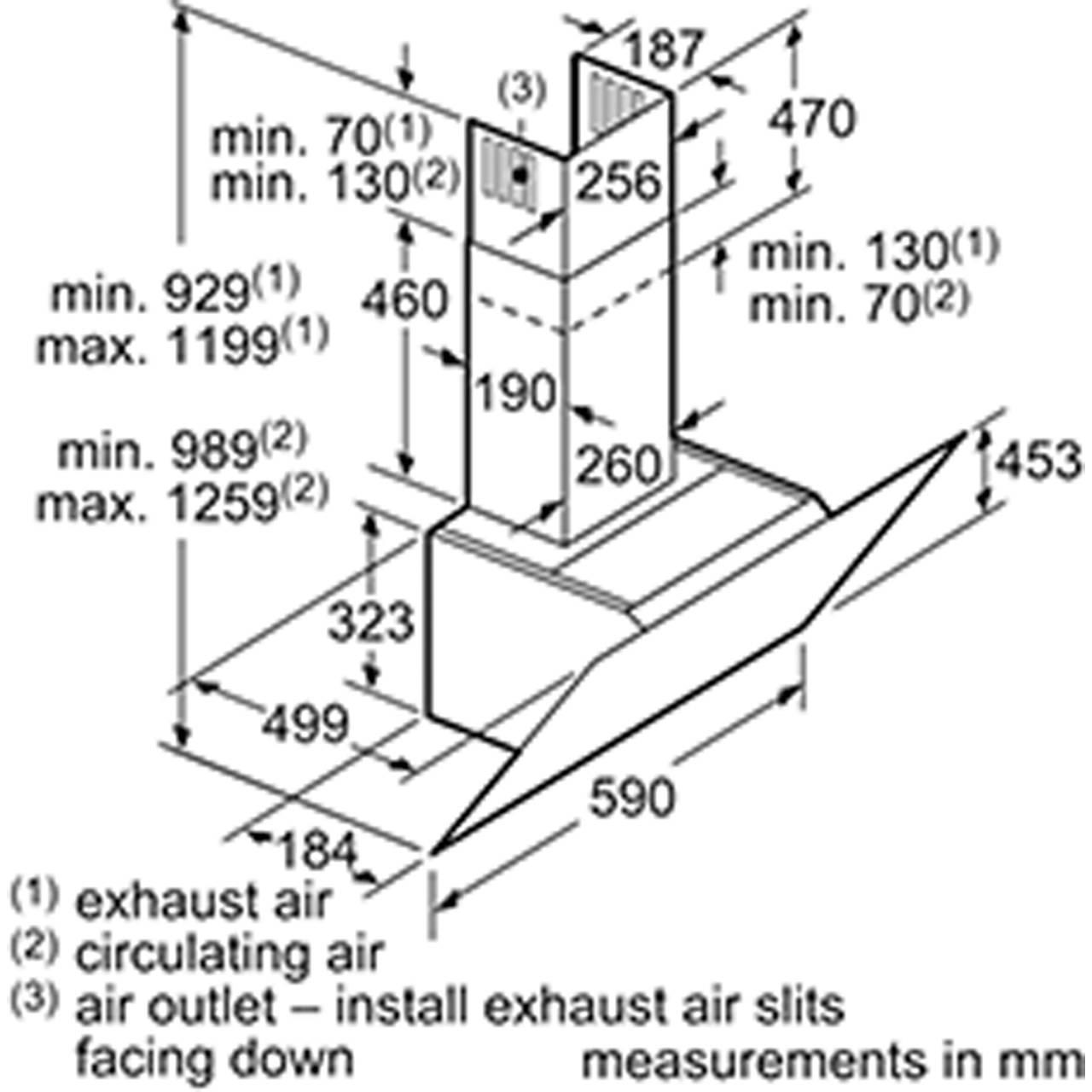 Bosch DWK67HM60B 60cm Angled Glass Chimney Extractor Hood