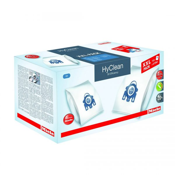 Miele GN Hyclean 3D Efficiency Dustbag XXL Pack - 16 Bags, 8 Filters