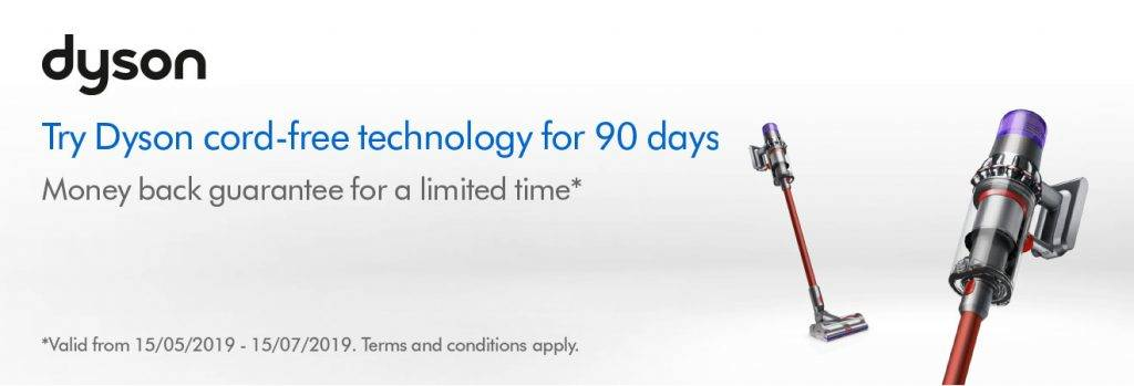 Dyson 90 day money back guarantee offer