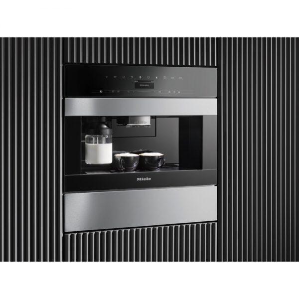 Miele CVA7445 PureLine Bean-to-Cup Coffee Machine With Cup sensor