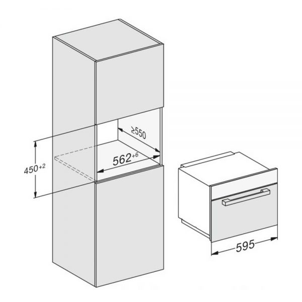 Miele M7140TC ContourLine Built in 45cm Microwave
