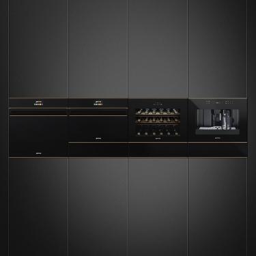 Smeg SF4604PMCNR 45cm Compact Microwave Combination Oven Dolce Stil Novo
