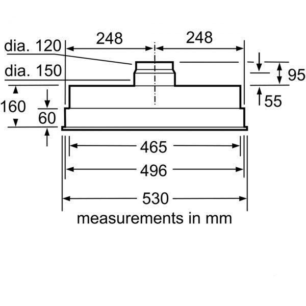Bosch DHL555BLGB 53cm Canopy Cooker Hood
