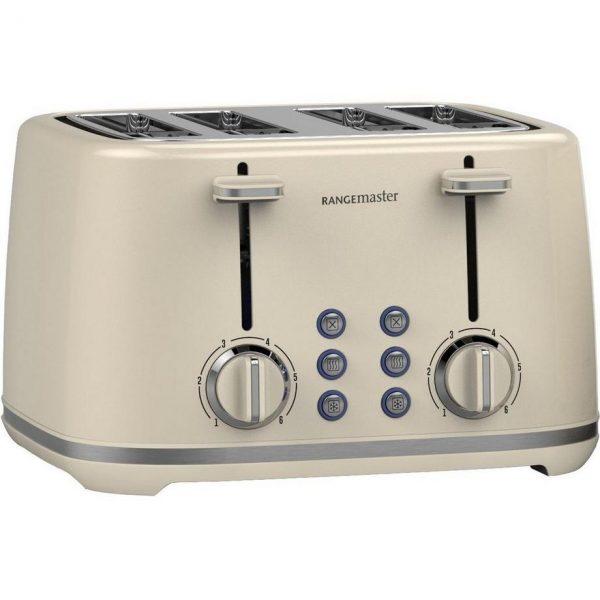 Rangemaster RMKT4S101CM 4 Slice Toaster - Cream