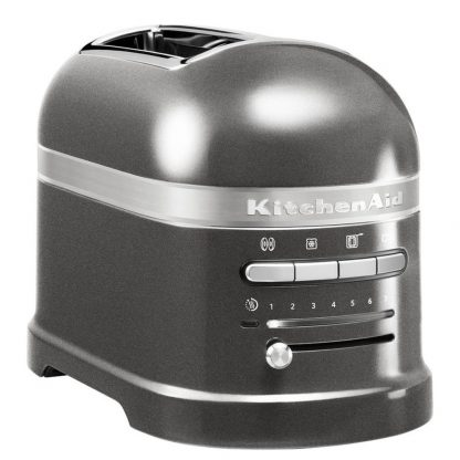 KitchenAid 5KMT2204BMS Artisan 2 Slice Toaster - Medalion Silver