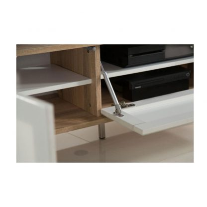 Alphason Designs ADHE1200WHITE Helium TV Stand for up to 55 inch screens White