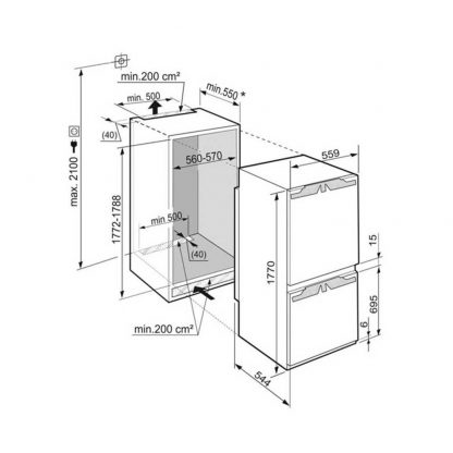 Liebherr ICUN3324 Built in Comfort NoFrost Fridge Freezer