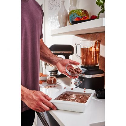 KitchenAid 5KSB4026BBK K400 Glass Jar Blender - Cast Iron Black