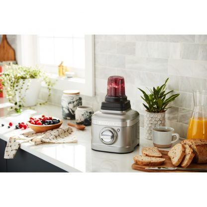 KitchenAid 5KSB4026BMS K400 Glass Jar Blender - Medalion Silver