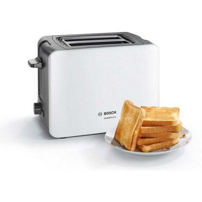 Bosch TAT6A111GB 2 Slice Toaster - White