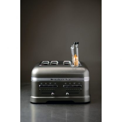 KitchenAid 5KMT4205BMS Artisan 4 Slot Toaster - Medallion Silver