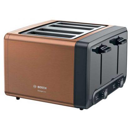 Bosch TAT4P449GB 4 Slice Toaster - Copper
