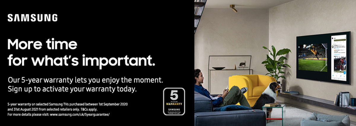Samsung 5 Year Warranty promotion