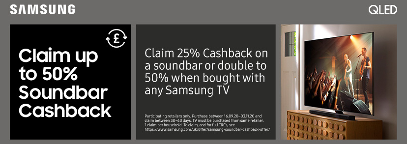Samsung soundbar cashback offer