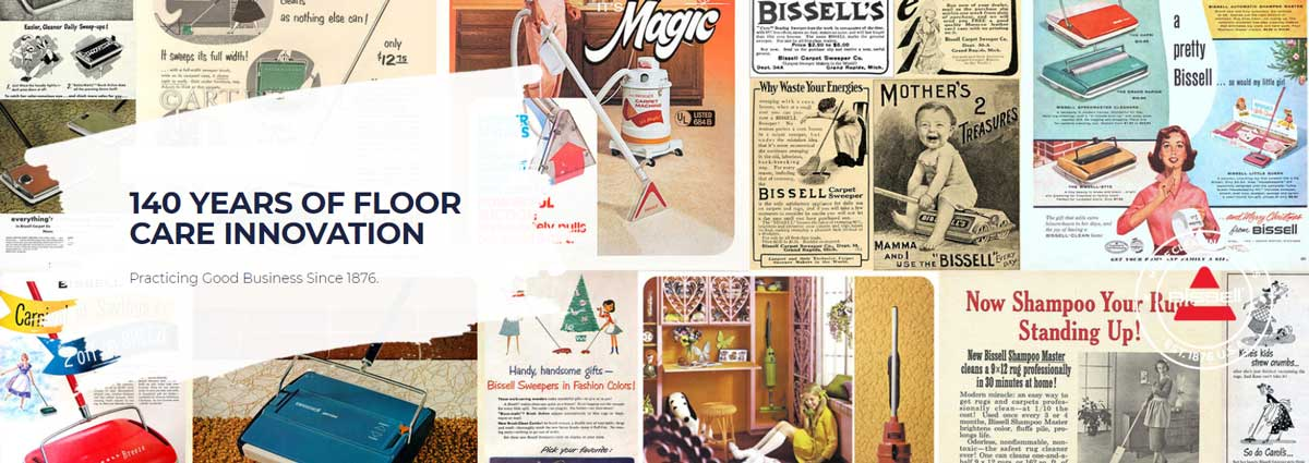 Bissell 140 Years of Floor Care Innovation