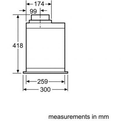 Bosch DHL575CGB 52 cm wide Canopy hood