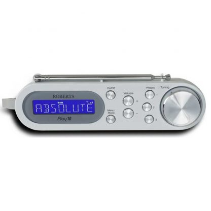 Roberts Radio PLAY10W Portable DAB Radio with DAB+ in White
